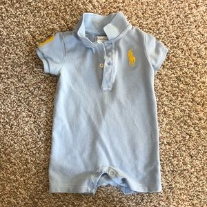 Ralph Lauren Infant Boys One Piece Polo Shirt